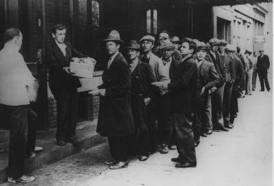 1938 NYC bread line