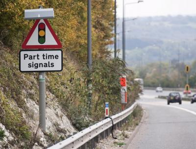 Part time signals sign